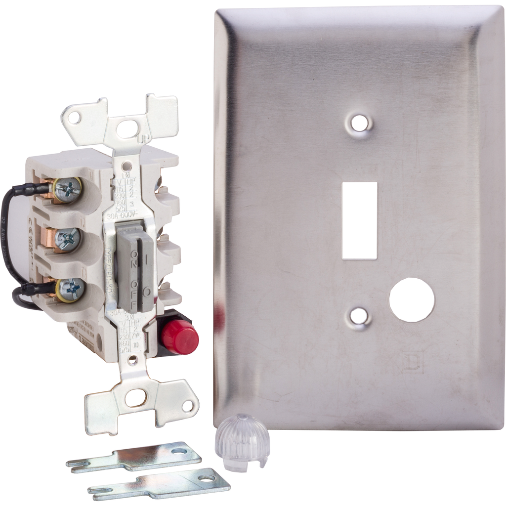 Manual Switch - SS Flush - 2P - Keye Operated - Red Indicator - 600VAC