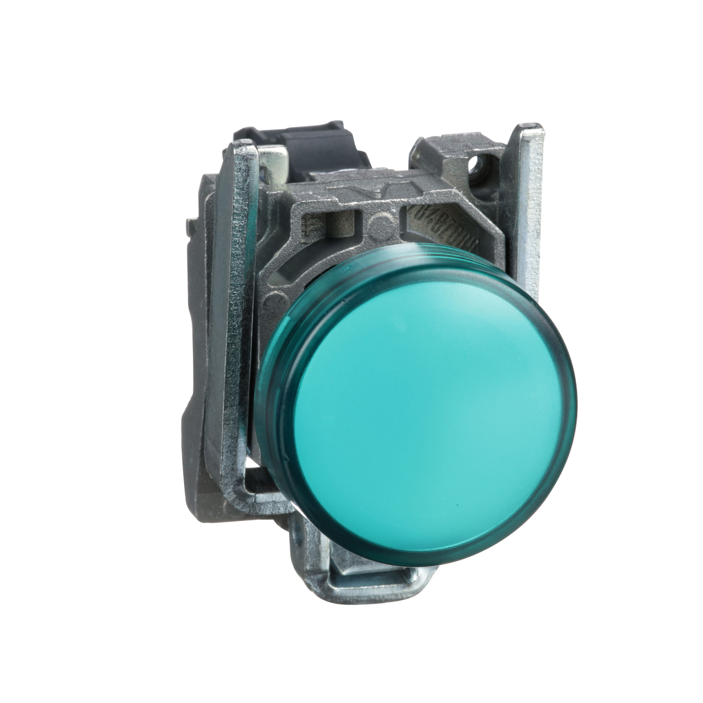 Harmony, 22mm pilot light, green lens, 120 V LED