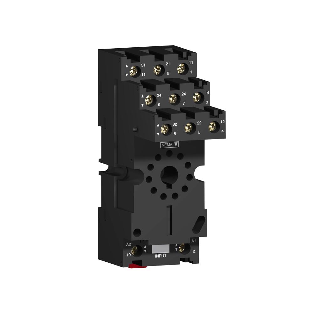 Socket RUZ - separate contact - 12 A - < 250 V - connector - for relay RUMC3..