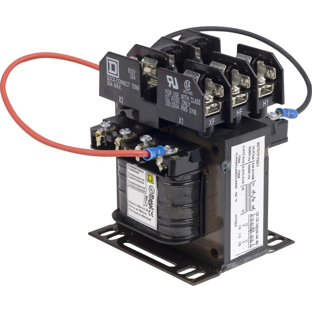 TRANSFORMER CONTROL 75VA 240/480V-120V
