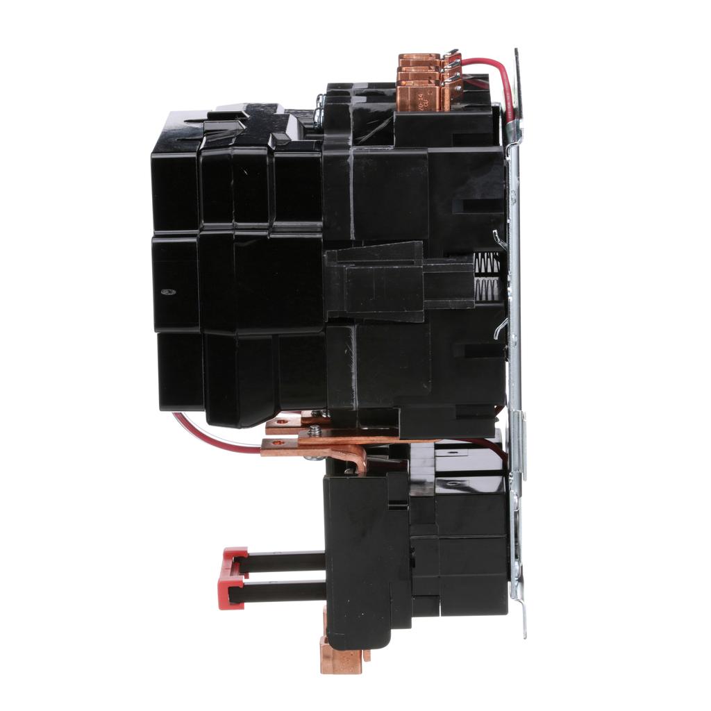 Type S nonreversing magnetic starter, NEMA Size 3, 3 P, 110/120 VAC 50/60 Hz coil, melting alloy overload, open