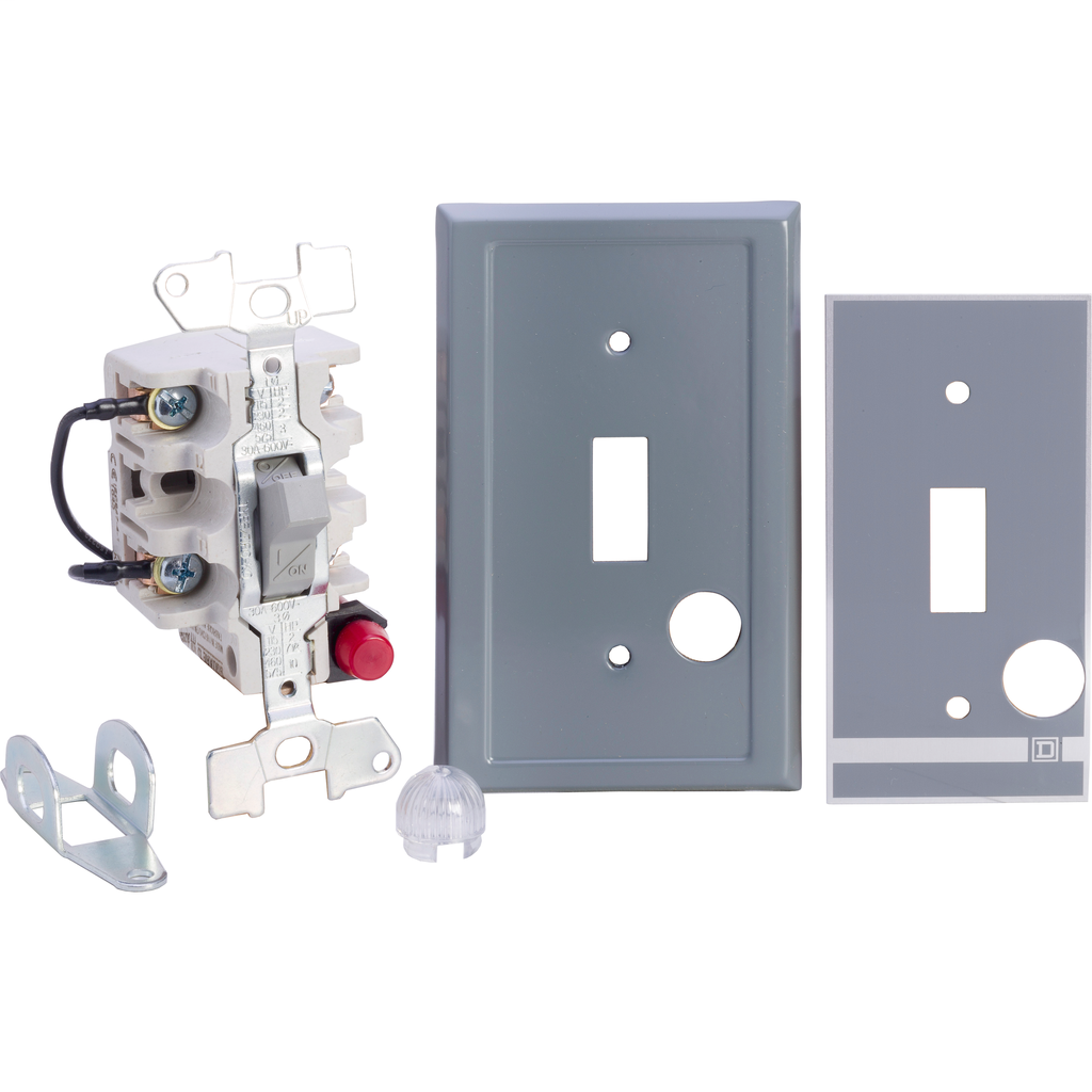 Manual Switch - Flush Mount - 2P - Toggle Operated - Red Indicator - 600VAC