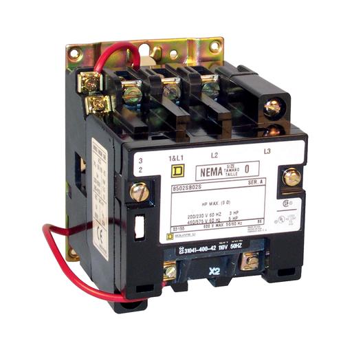 SQD 8502SBO2V02S CONTACTOR 600VAC