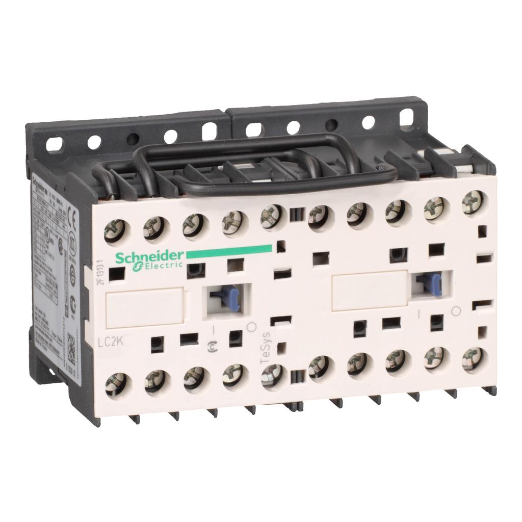 TeSys K reversing contactor - 3P - AC-3 <= 440 V 12 A - 1 NO - 24 V AC coil