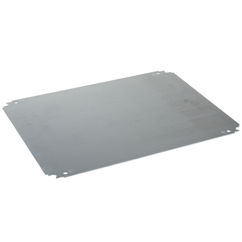 Plain mounting plate H500xW500mm made of galvanised sheet steel