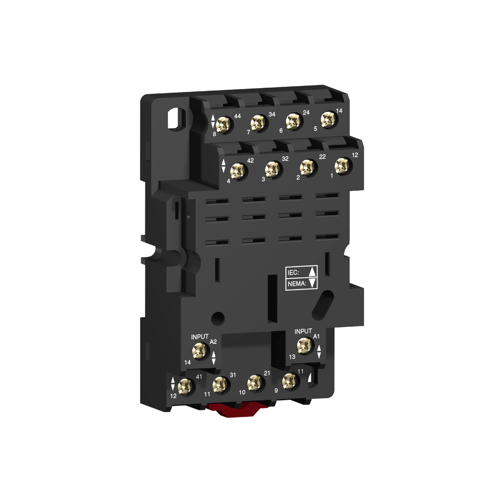 Socket RPZ - mixed contact - 16 A - < 250 V - screw clamp - for relay RPM4