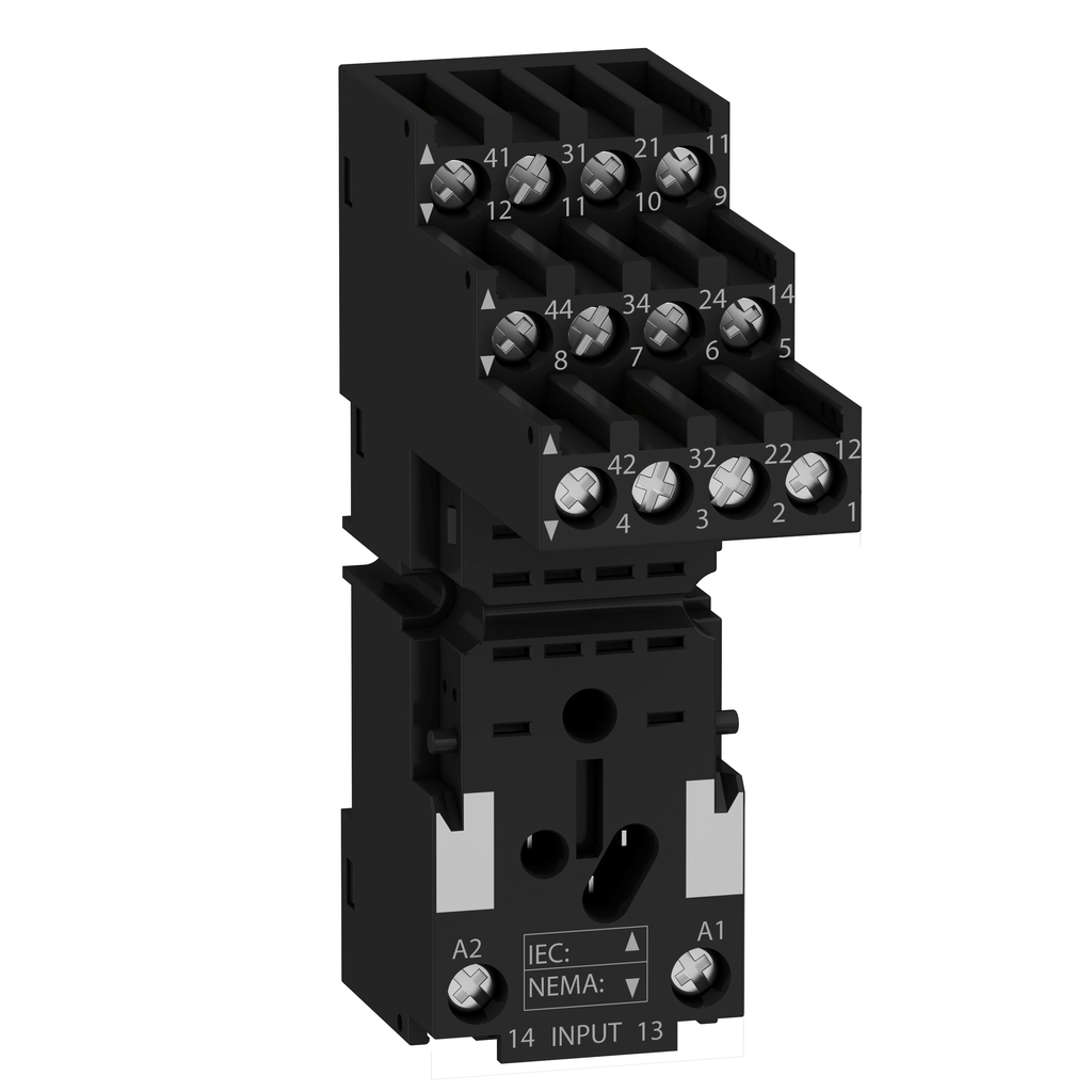 Socket RXZ - separate contact - 10 A - < 250 V - connector - for relay RXM4..