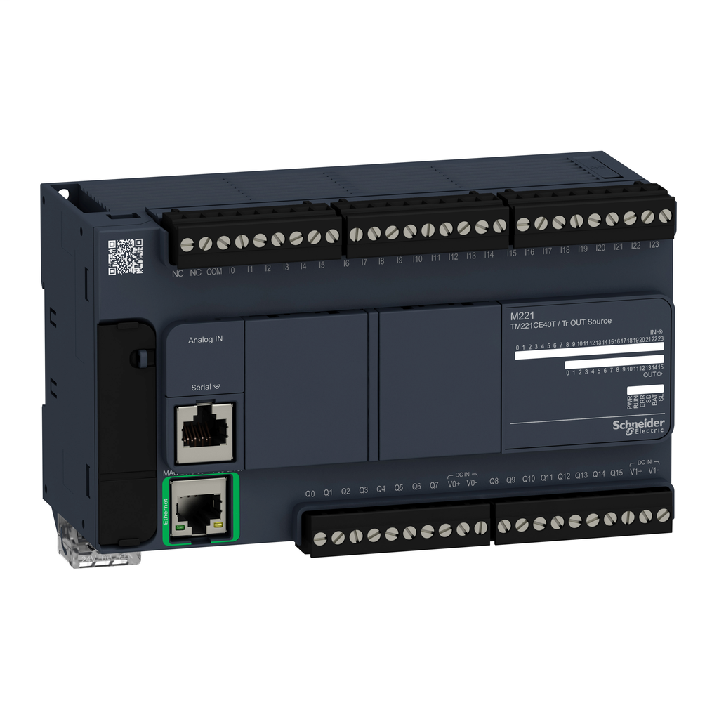 Controller M221 40 IO transistor PNP Ethernet