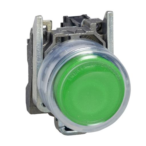 SQD XB4BP31 NON-ILLUM CLEAR BOOT-GREEN EXTENDED