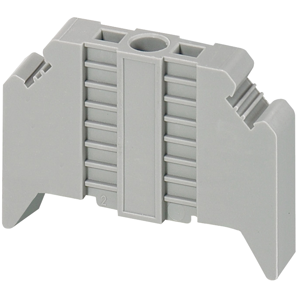 Linergy terminal blocks, end bracket, screw on, for 35 mm DIN rail, 9.5 mm wide, markable