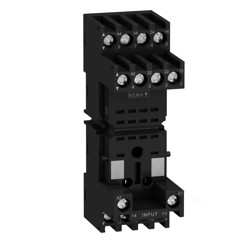 Socket RXZ - mixed contact - 10A - < 250V - connector - for relay RXM2.., RXM4..