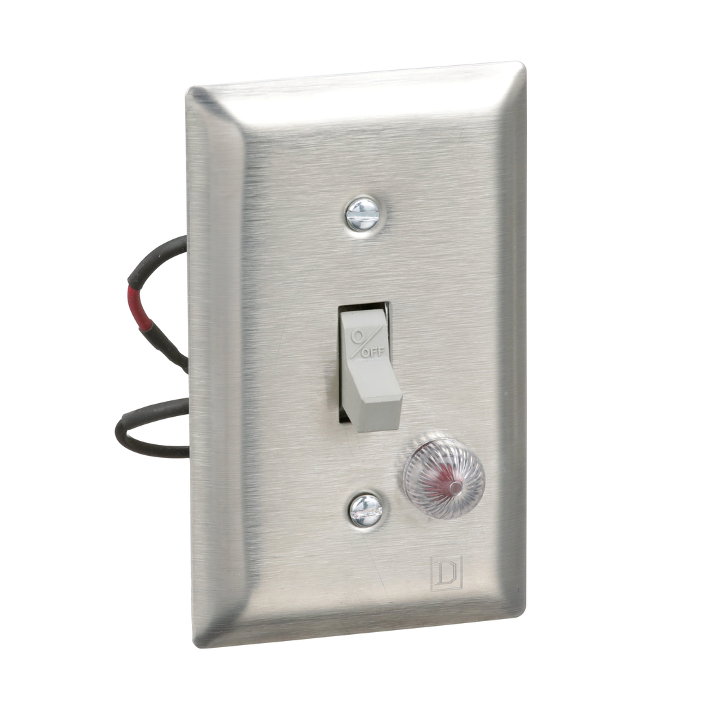 Manual Switch - SS Flush - 2P - Toggle Operated - Red Indicator - 600VAC