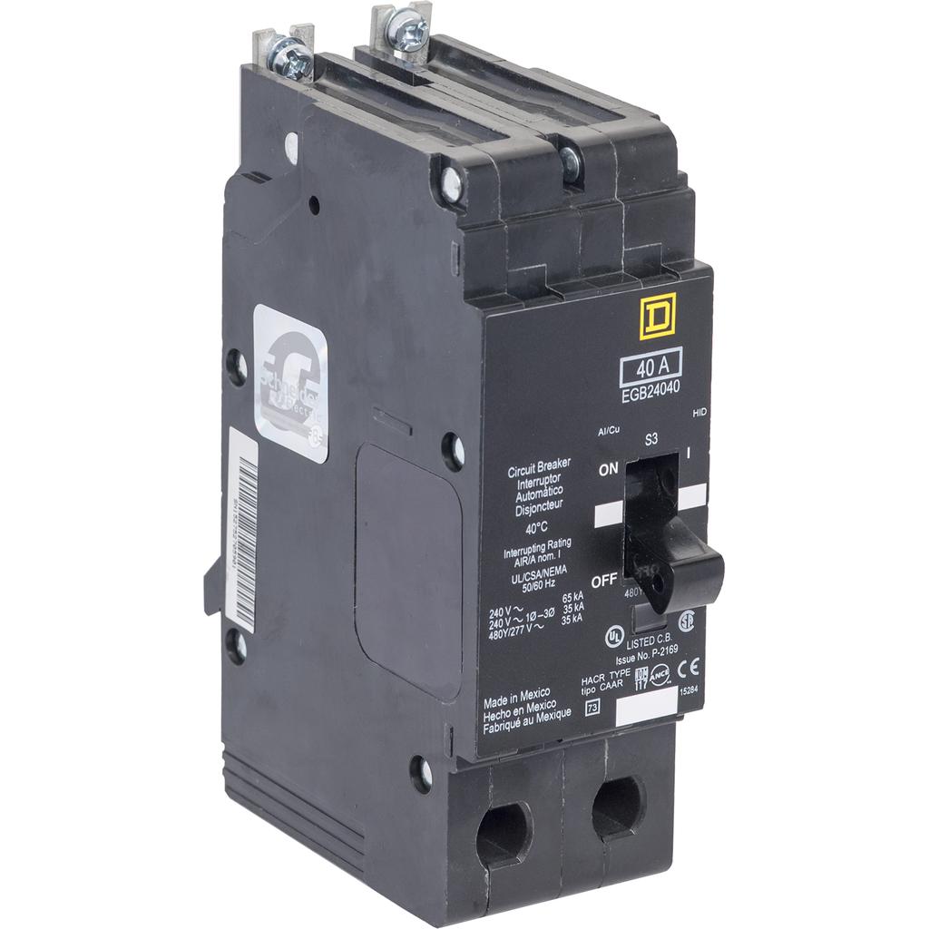 E Frame, circuit breaker, 40 A, 2 pole, 480Y/277 V, 18/25 kA, bolt on
