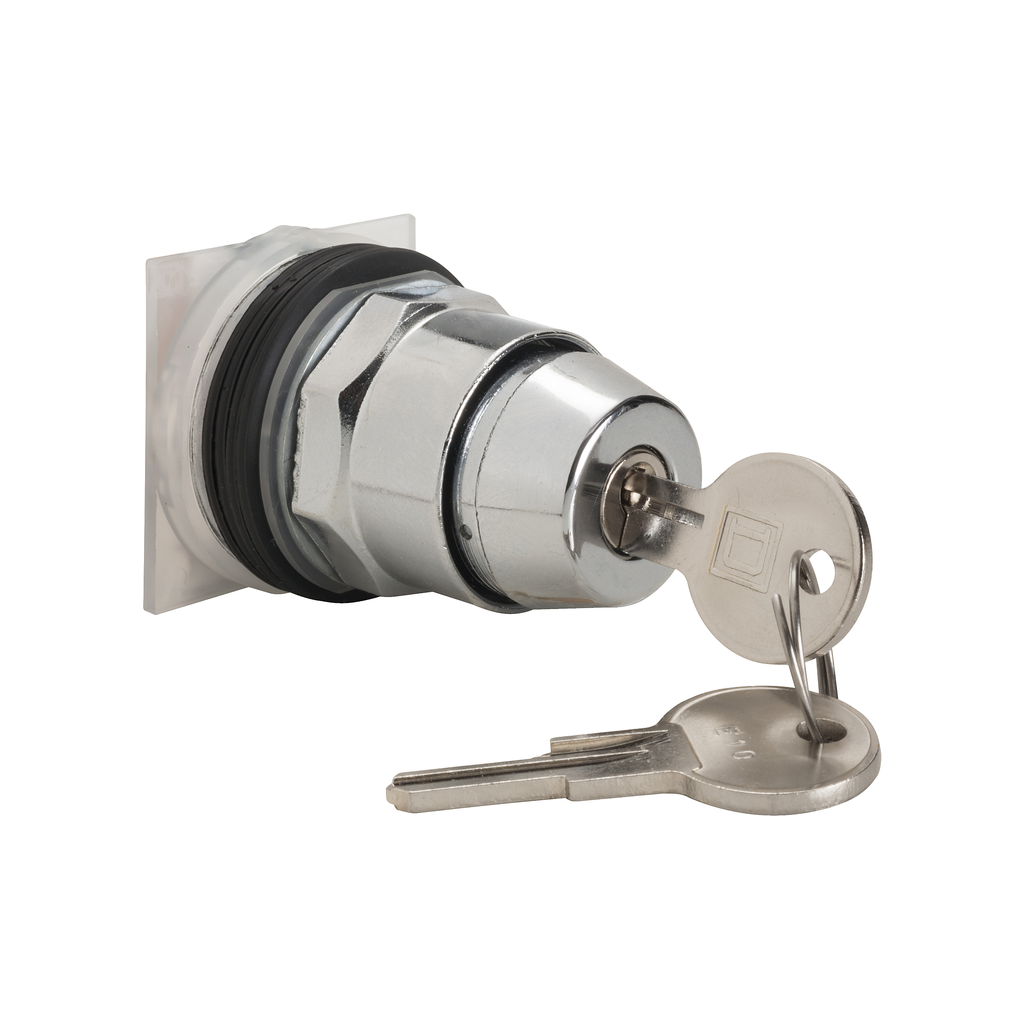 30mm Push Button, Type K, keyed selector switch, 3 position, C cam, key withdrawal in any position