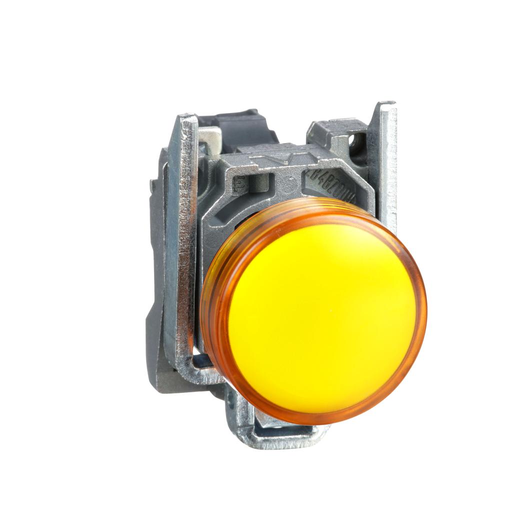 Harmony, 22mm pilot light, orange lens, 120 V LED