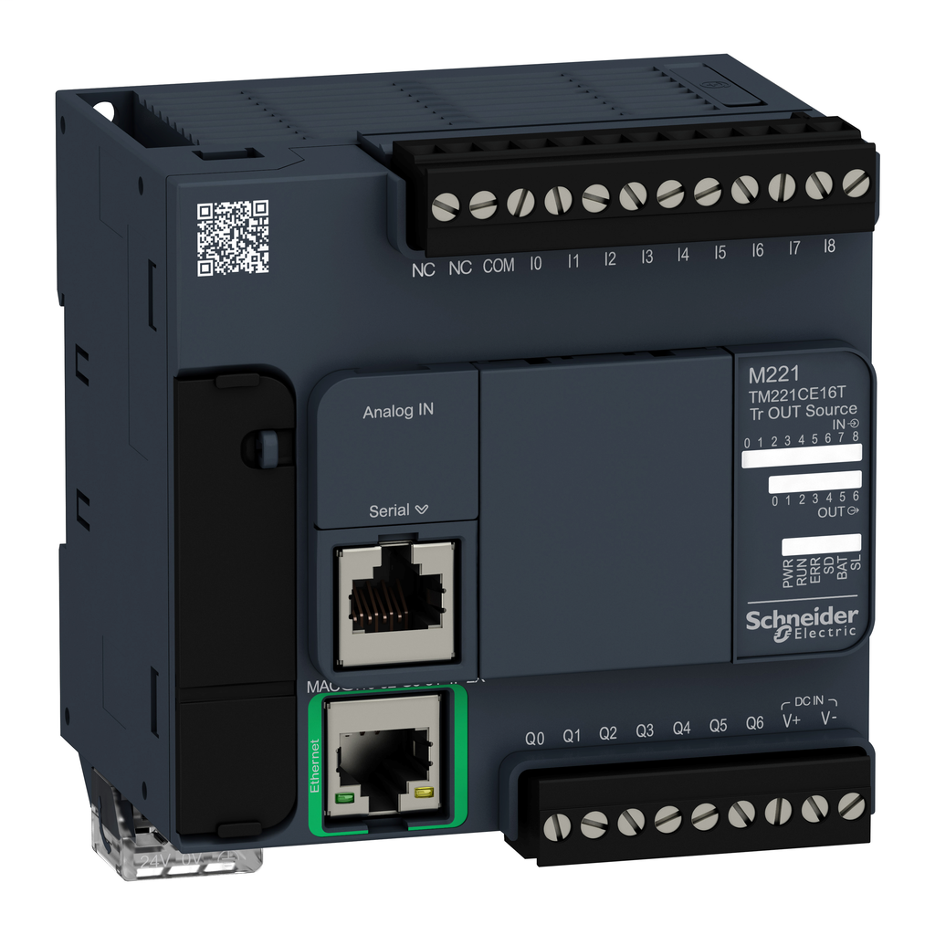 Controller M221 16 IO transistor PNP Ethernet