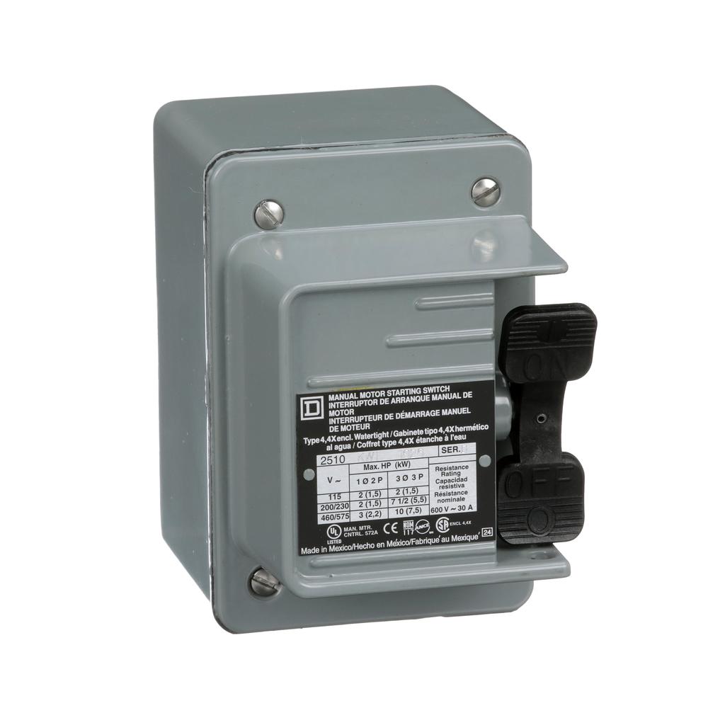 Manual switch, 3 P, 30 amp, toggle operated, no pilot light, 600 VAC, NEMA 4 enclosure