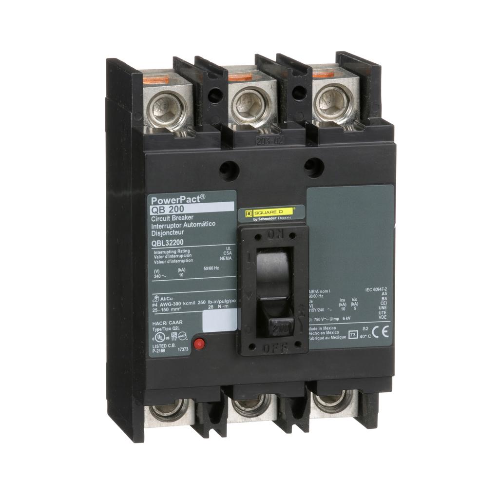PowerPact Q - molded case circuit breaker - 3-pole - 10 kA - 240 V - 200 A