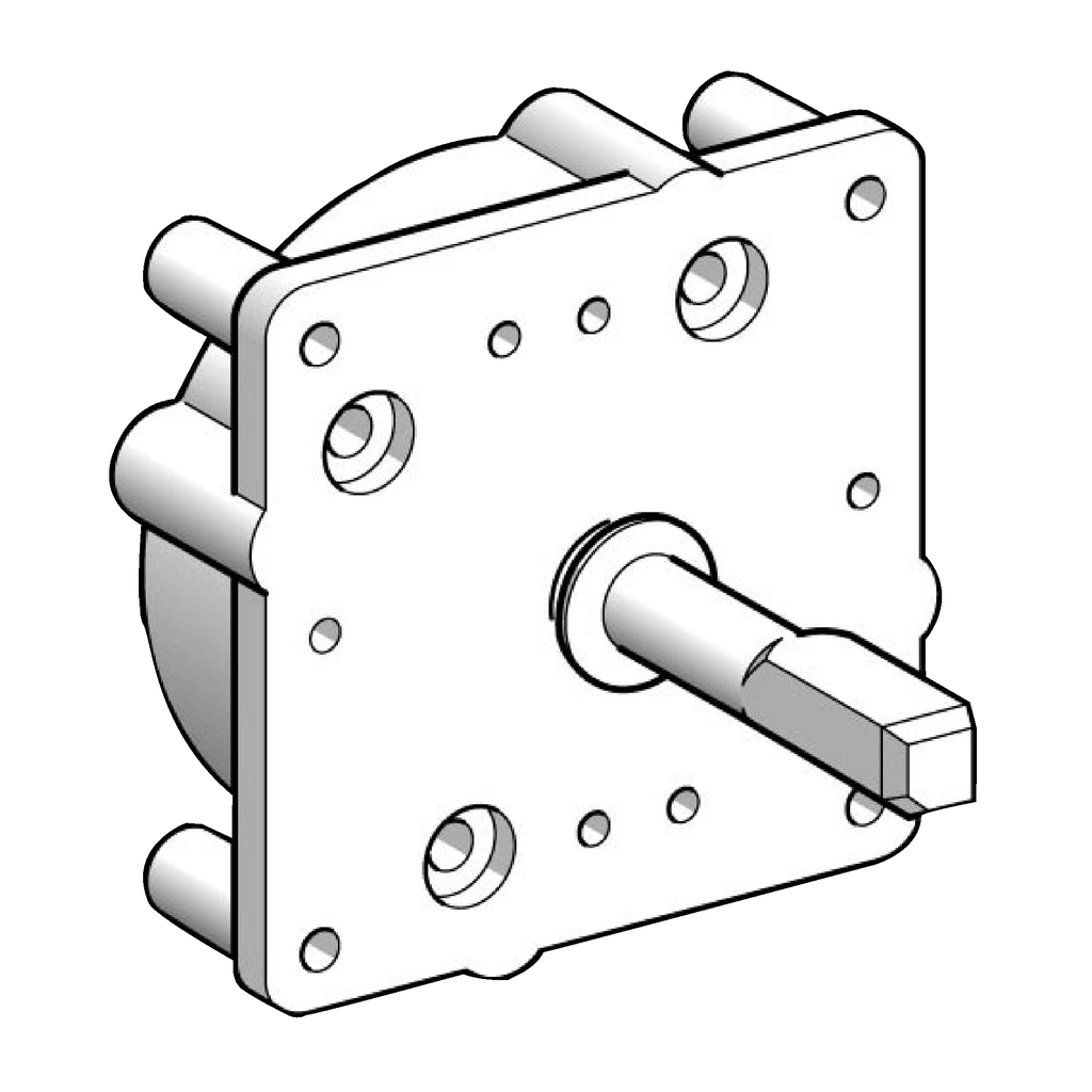 Replacement multi-fixing plate - multi-fixing front mounting body