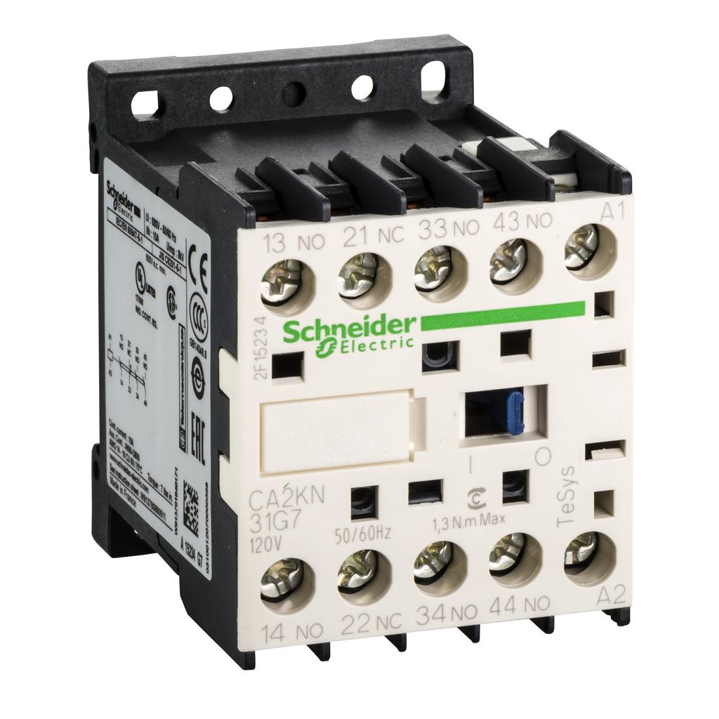 TeSys K control relay - 3 NO + 1 NC - <= 690 V - 120 V AC coil
