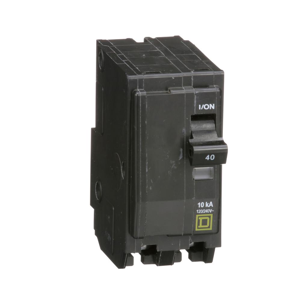Mini CB, QO, 40 A, 2P, 120/240 V, 10 kA, Plug in
