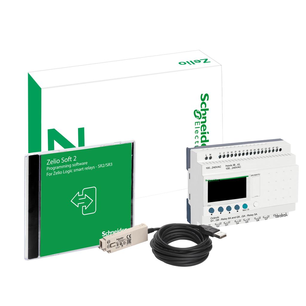 """Modular smart relay Zelio Logic - """"discovery"""" pack - 26 I O - 100..240 V AC"""