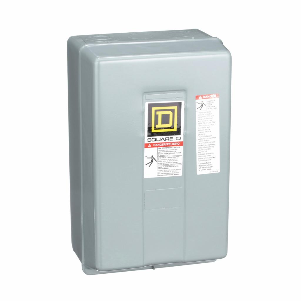 8903L electrically held lighting contactor, 6 P, 6 NO, 30 A, 600 V, 110/120 V 50/60 Hz coil, NEMA 1