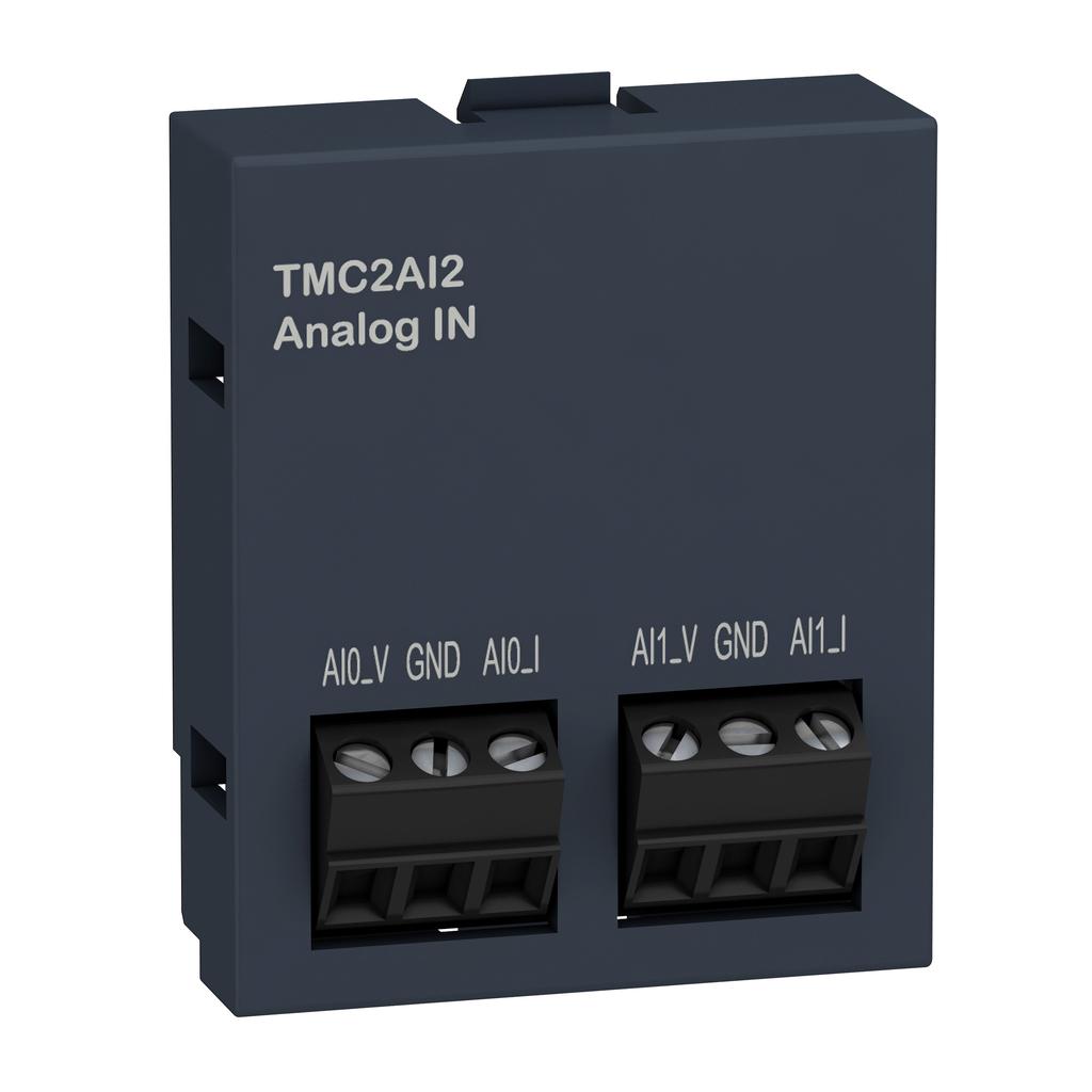 Cartridge M221 - 2 analog inputs - I/O extension