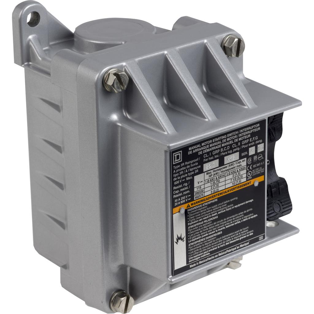 Manual Switch - NEMA 7&9 - 2P - Toggle Operated - No Indicator - 600VAC