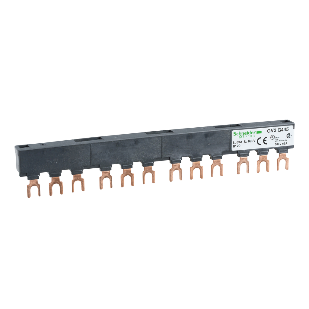 Linergy FT - Comb busbar - 63 A - 4 tap-offs - 45 mm pitch