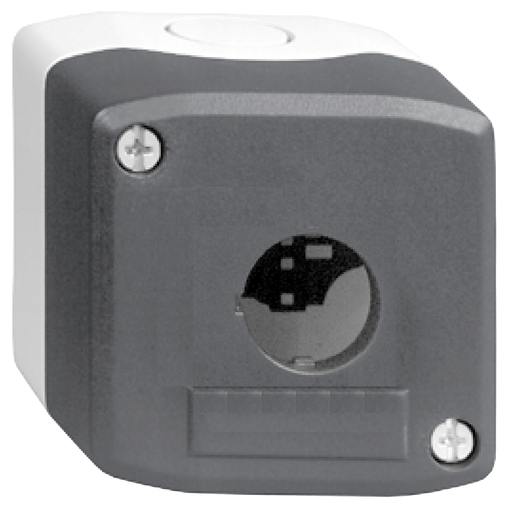 SQD XALD01H7 Push Button - dark grey empty enclosure lid with light grey base - 1 cut-out -UL/CSA certified - 600vac 10a XALB SP
