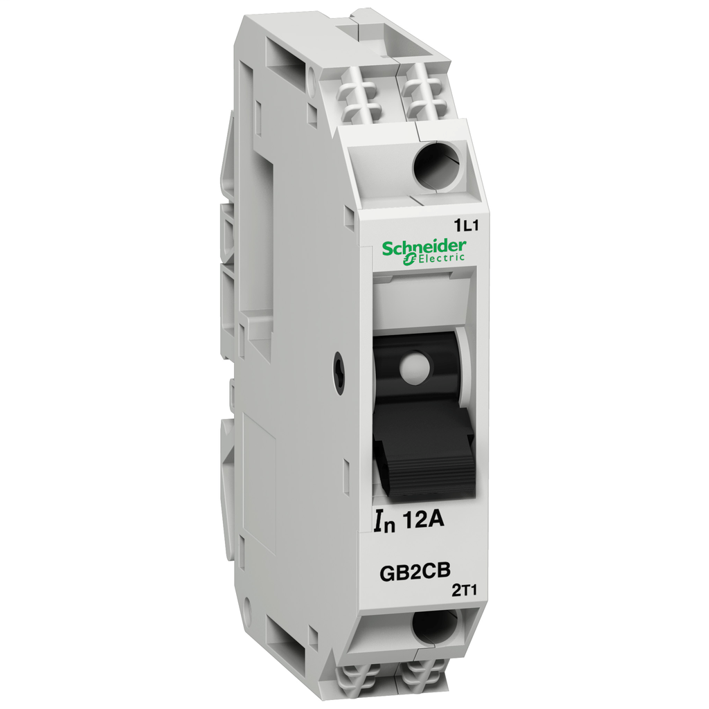 TeSys GB2 - thermal-magnetic circuit breaker - 1P - 10 A - Id = 138 A