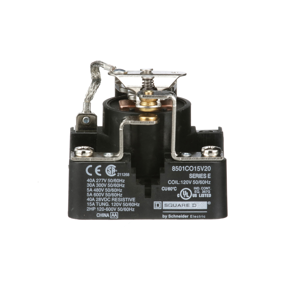 Power Relay, SPDT, 1 NO and 1 NC, 1.5 HP, 30 A resistive at 300 V, 120 VAC coil