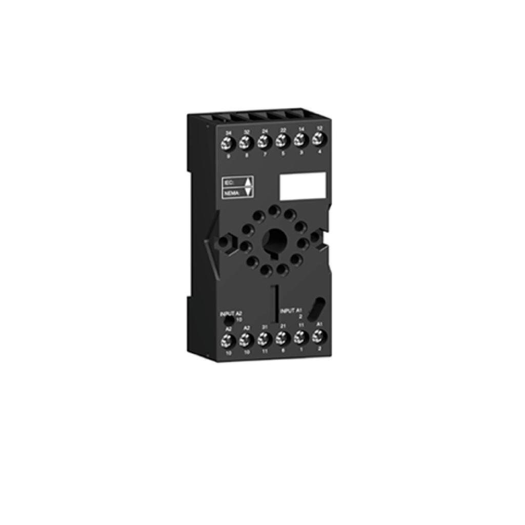 Socket RUZ - mixed contact - 10A - < 250V - connector -for relay RXM2.., RUMC3..