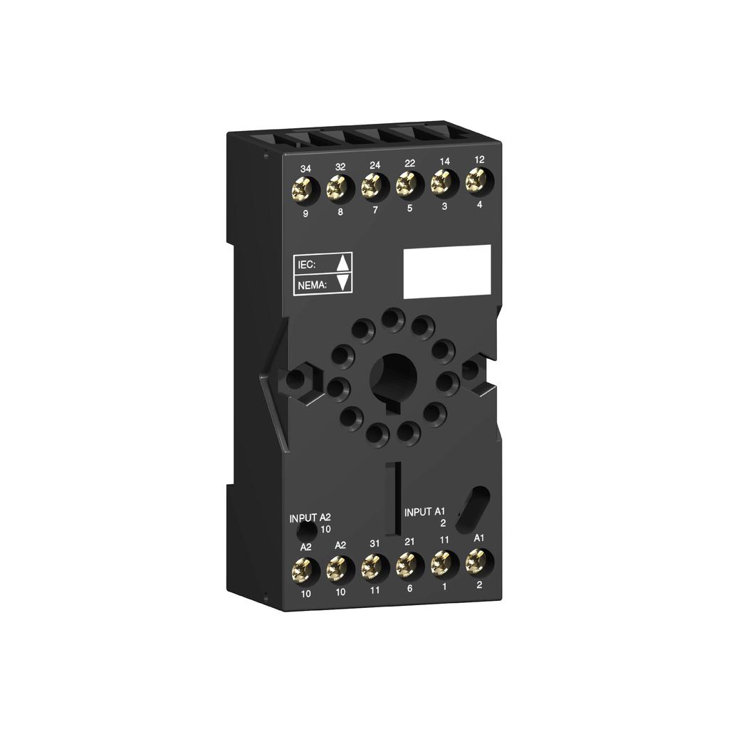 Socket RUZ - separate contact - 12 A - < 250 V - connector - for relay RUMC2..