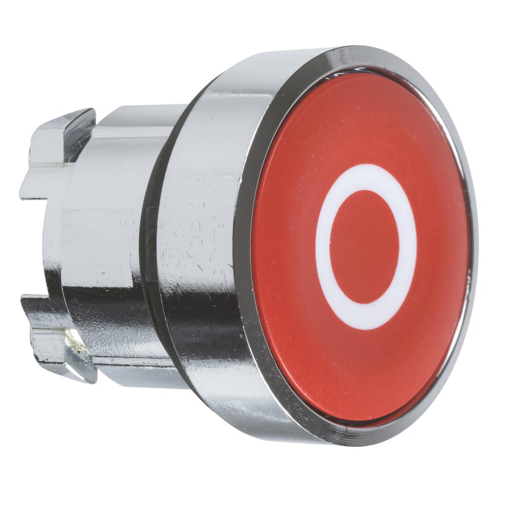 """Red flush pushbutton head Ø22 spring return """"O"""""""