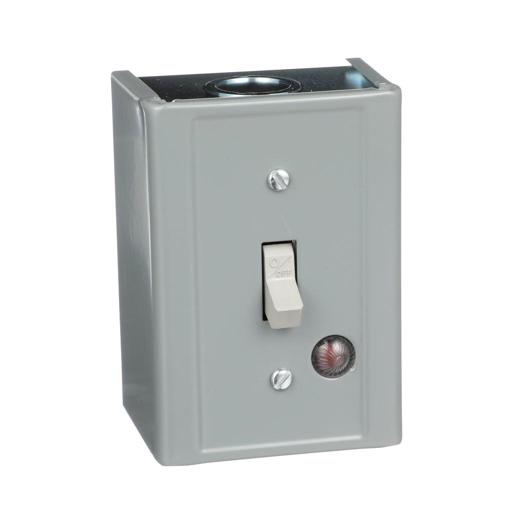 Manual Switch - NEMA 1 Oversized - 3P - Toggle Operated -Red Indicator - 600VAC