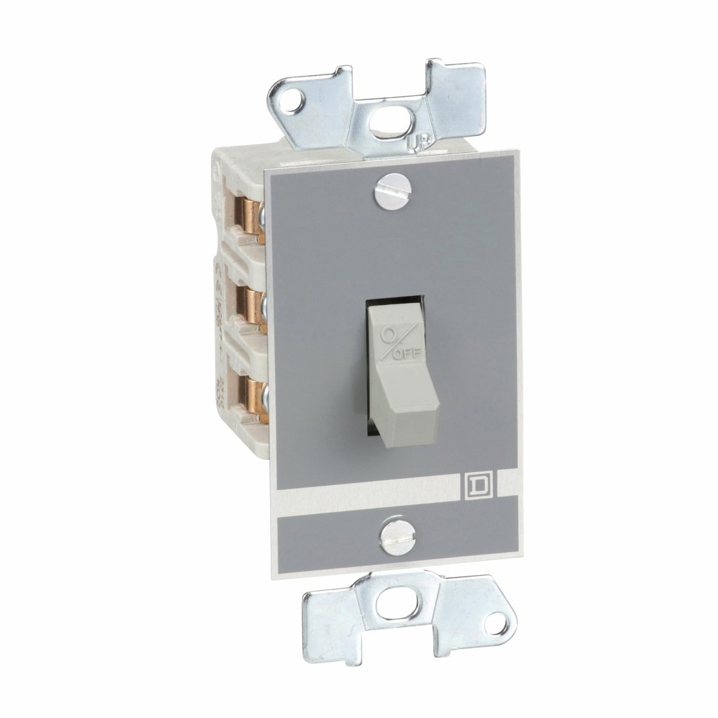 Manual switch, 3 P, 30 amp, toggle operated, no pilot light, 600 VAC, open