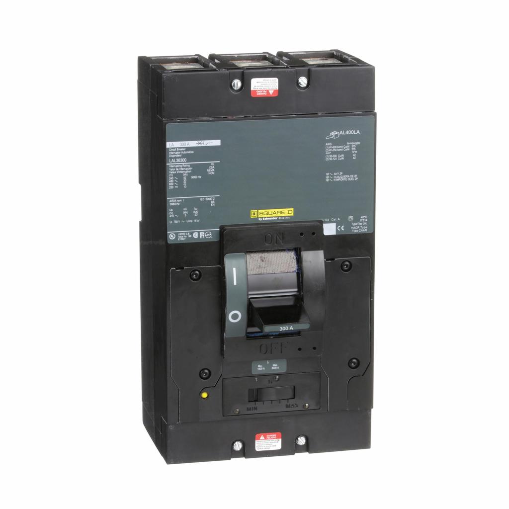 3P 600VAC/250VDC 300A LAL FA/LA MOLDED CASE CIRCUIT BREAKER
