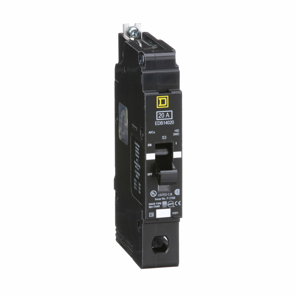 E Frame, circuit breaker, 20 A, 1 pole, 277 V, 18/25 kA, bolt on