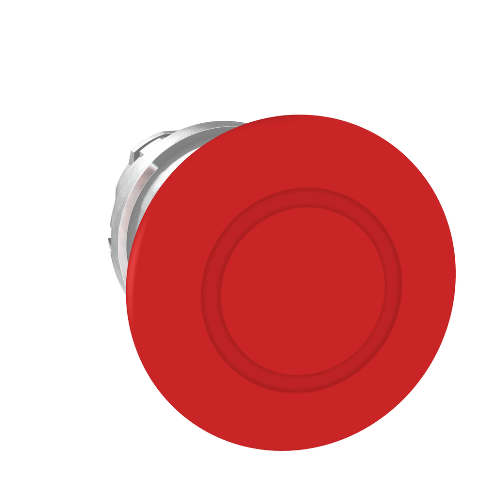 Harmony, 22mm Push Button, emergency stop head, trigger and latching push pull, red, 40 mm mushroom, unmarked