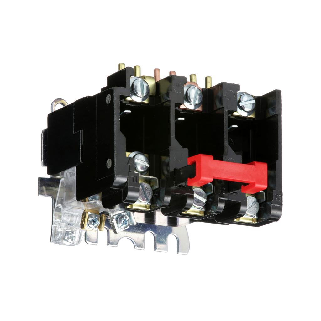 Melting alloy overload relay, NEMA Sizes 00, 0,1, three pole, 27 A, 600 VAC