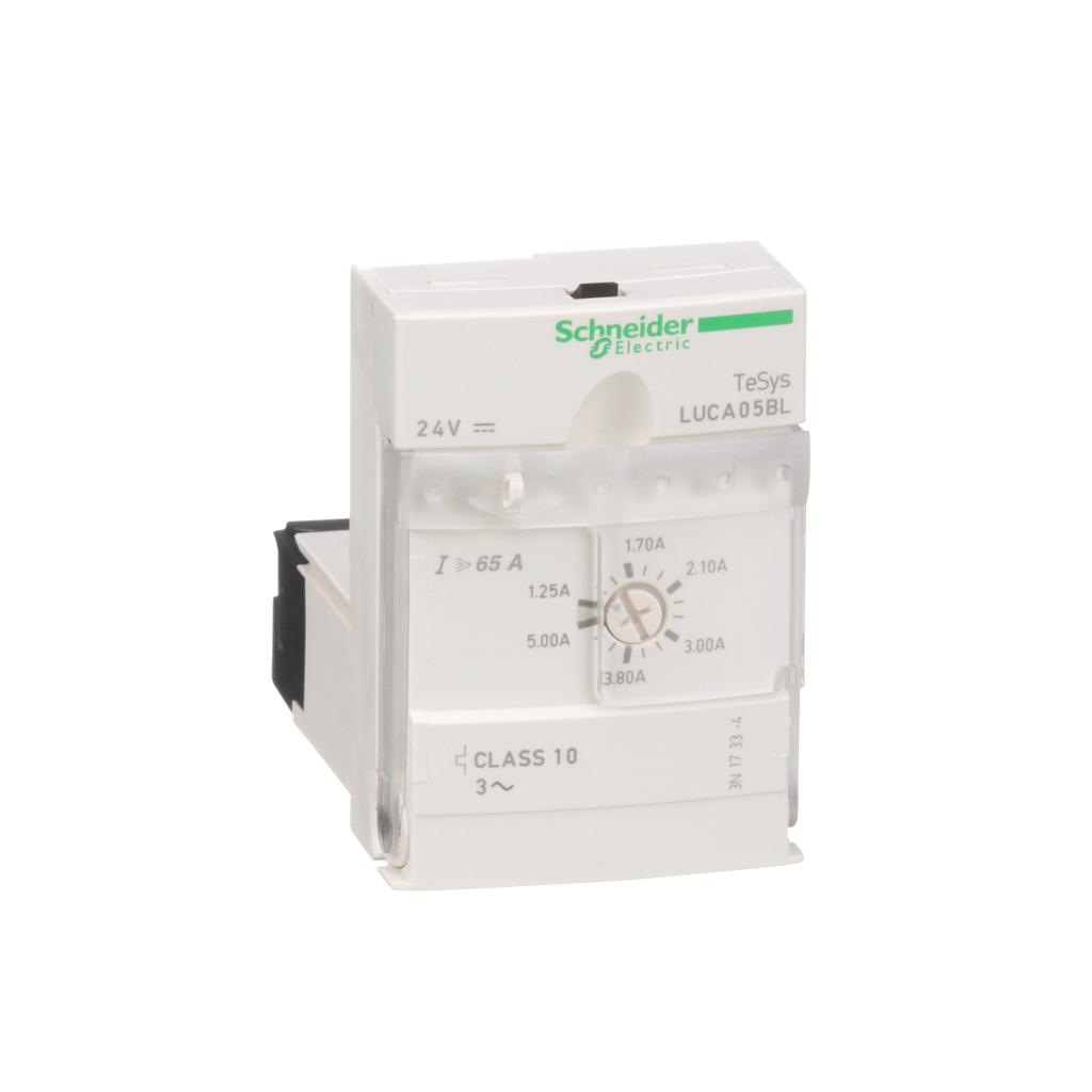TeSys U, standard control unit, class 10, 1.25 to 5 A, 24 V DC