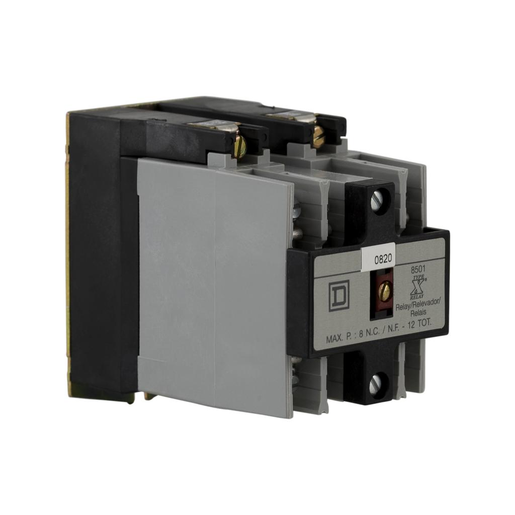 NEMA Control Relay, machine tool, 3 NO, 110/120 VAC 50/60 Hz coil