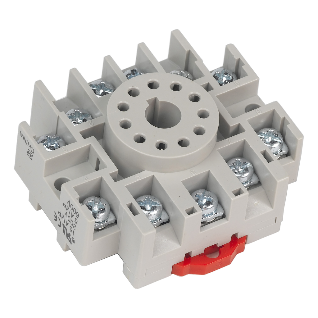 Relay Socket, 11 pin, tubular, single tier, for 8510K relays