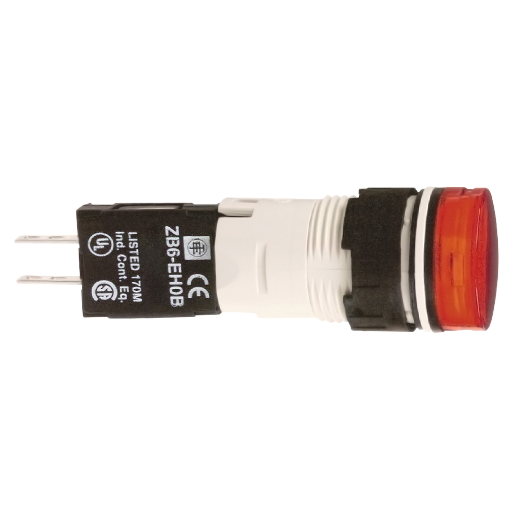 Red complete pilot light Ø16 with integral LED 48...120V