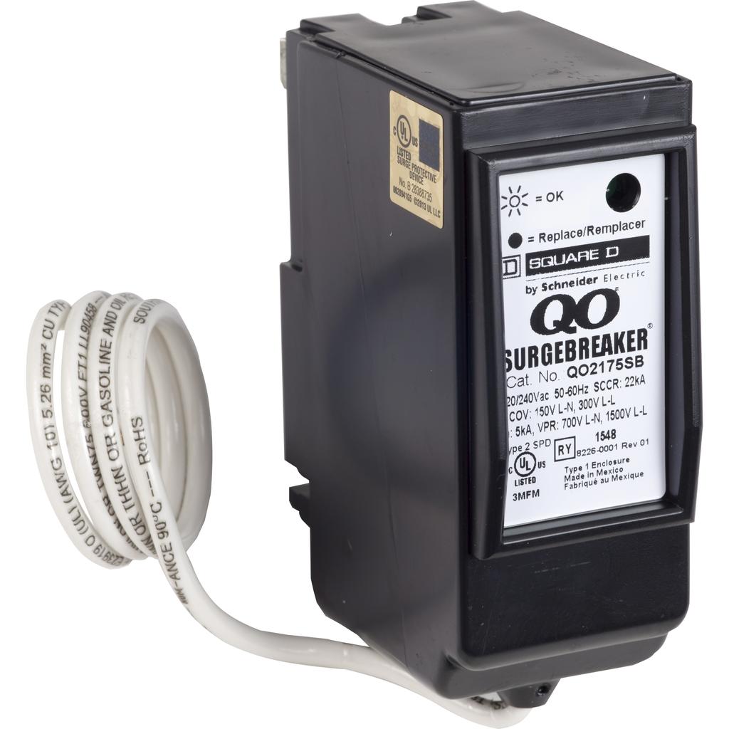 Surge Breaker - QO - 22.5kA -120/240VAC - 1P3W - T2
