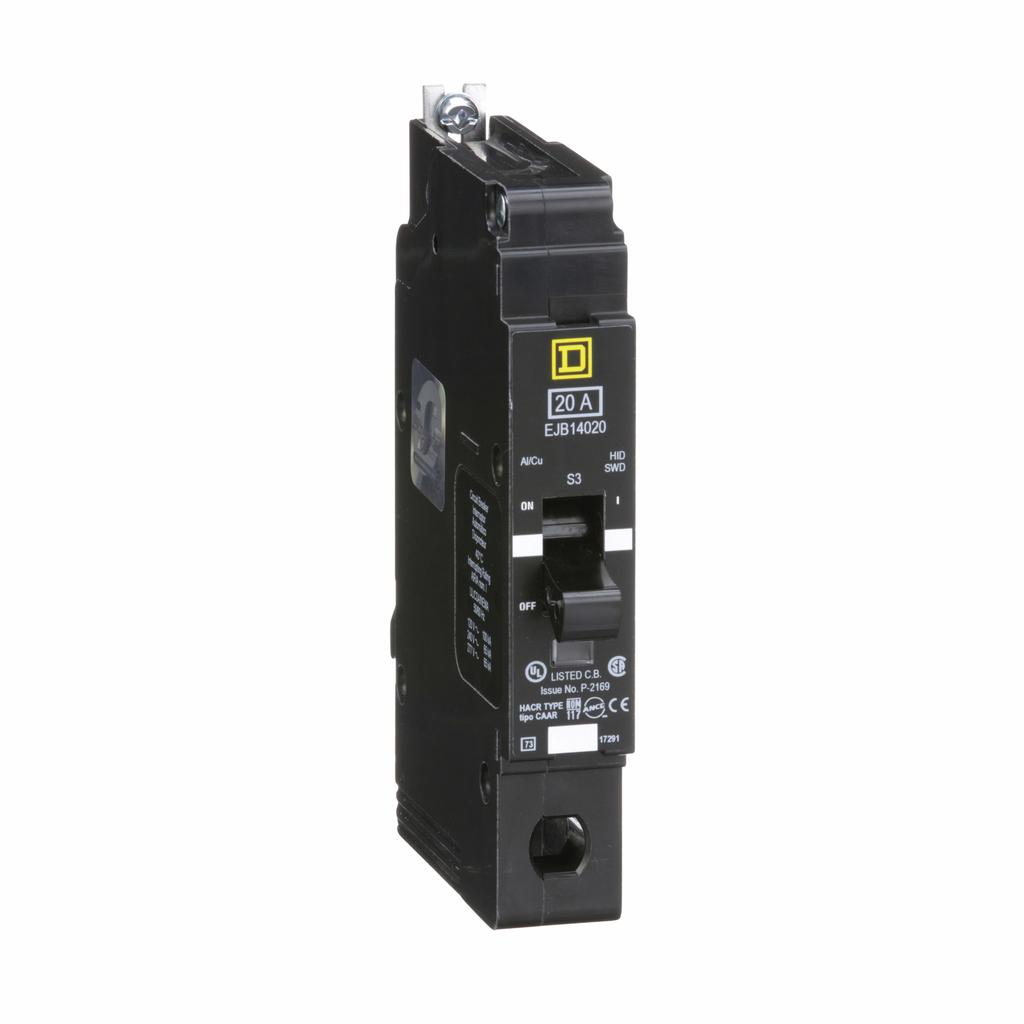 E Frame, circuit breaker, 20 A, 1 pole, 277 V, 65/100 kA, bolt on