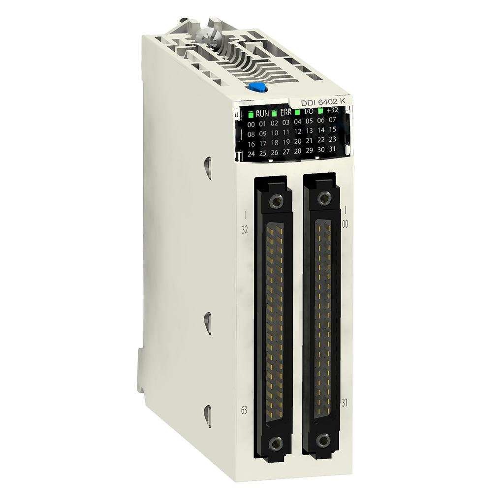 Discrete input module X80 - 64 inputs - 24 V DC positive