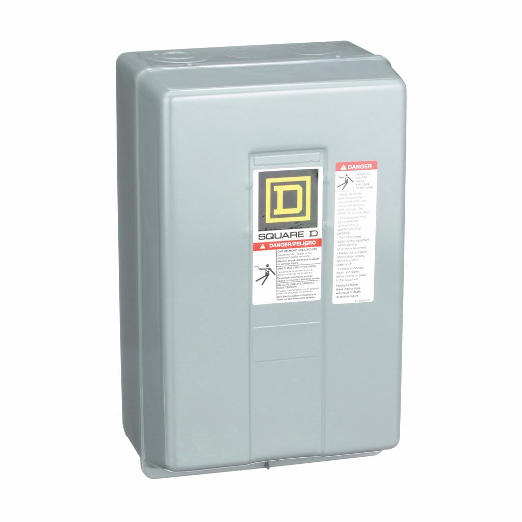 8903L electrically held lighting contactor, 8 P, 8 NO, 30 A, 600 V, 110/120 V 50/60 Hz coil, NEMA 1